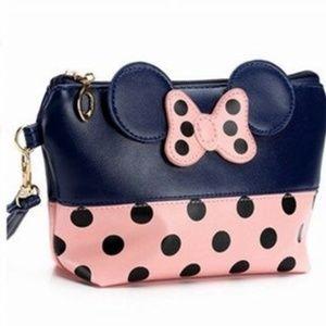 Handbags - Blue and Pink Minnie Mouse Makeup Bag